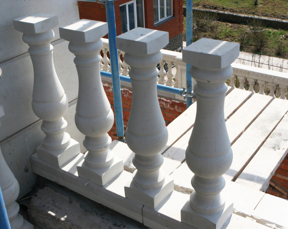 The installation of balustrades