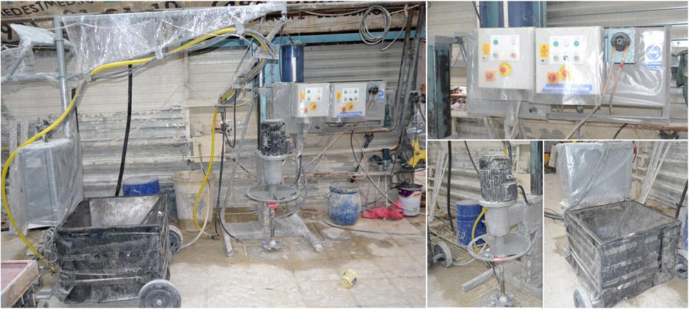 Оборудования для производства фибробетона перед заливкой бетона