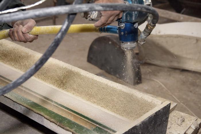 Процесс напыления методом пневмонабрызга